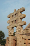 Gates of Great Stupa at Sanchi Royalty Free Stock Photo