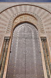 Gates of the The Hassan II Mosque, located in Casablanca Stock Photos