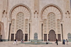 Gates of the The Hassan II Mosque, located in Casablanca is the Stock Photography