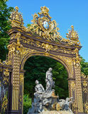 Gates in historical center of Nancy Royalty Free Stock Photo