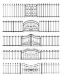 Gates and iron fence horizontal seamless Royalty Free Stock Photo