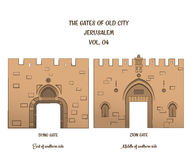 The Gates of Jerusalem, Dung Gate, Zion Gate Royalty Free Stock Photos
