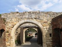 Gates on the Kalemegdan fortress royalty free stock photography