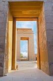 The gates of Khonsu Temple Stock Photo