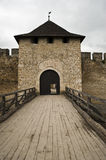 Gates in the Khotyn castle. Gates in a tower in the Khotyn castle royalty free stock photo