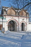 Gates in Kolomenskoe Stock Photography
