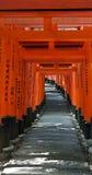 gates kyoto tori Royaltyfri Bild
