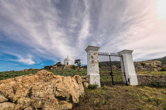 Gates leading to mausoleum at Palasca in Balagne region of Corsi Royalty Free Stock Images
