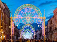 The gates of light - 100 years anniversary of Lithuanian independence. Stock Image
