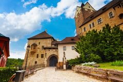 Gates of Loket castle Royalty Free Stock Image