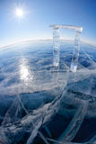 Gates made from ice Stock Photography