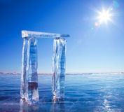 Gates made from ice Royalty Free Stock Photos