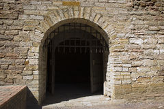 The gates of the medieval fortress Royalty Free Stock Photo