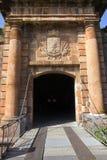 Gates Montjuic castle Stock Photography