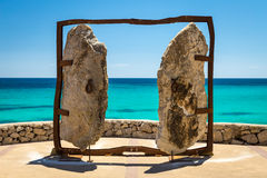 Free Gates Monument At The Sea Embankment In Touristic Town Cala Mill Stock Photo - 74128100
