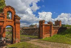 The gates of nobiliary family's country estate Stock Image