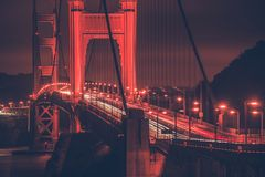 gates noc brydża złota Zdjęcie Stock