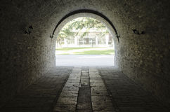 Gates of the old city walls Royalty Free Stock Photo