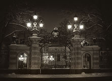 Gates of the palace of the Grand Duke Alexei Alexandrovich. St. Petersburg. Royalty Free Stock Images
