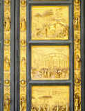 Gates of Paradise detail, Florence Baptisery, Italy Royalty Free Stock Image