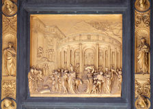 Gates of Paradise, The Story of Joseph, Baptistry of Florence Cathedral. Baptistry of Saint John, Gates of Paradise, The Story of Joseph, Florence, Italy Stock Images