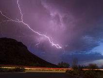 Gates Pass Lightning Stock Photography