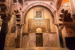 Gates with patterns of the moorish Mezquita, Mosque-Cathedral royalty free stock photos