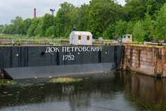 The gates of Petrovsky dock. Kronstadt Stock Images