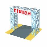 Gates racing finish icon, cartoon style. Gates racing finish icon in cartoon style isolated on white background. Sport symbol Stock Images