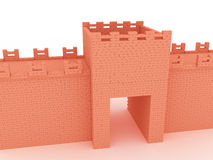 Gates of red brick #3 Stock Image