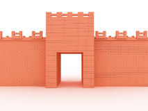 Gates of red brick #2 Royalty Free Stock Photo