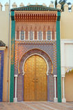 The gates of Royal Palace Dar el Makhzen in Fes Stock Images