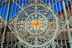 Gates of the Royal Palace - Torino Italy Stock Photos