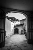 Gates at San Miniato al Monte, Florence, Italy (BW) Royalty Free Stock Images