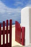 Gates at Santorini island Stock Image