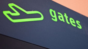 Gates sign at the airport Stock Photography