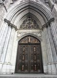 Gates of the St. Patrick's Cathedral. In NYC royalty free stock photo