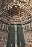 Gates of the Strasbourg Cathedral Stock Photos