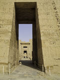 Gates of Temple of Edfu. In Egypt Stock Image