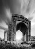 Gates of time. Black and white Royalty Free Stock Image