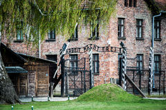 Gates to Auschwitz Royalty Free Stock Photos
