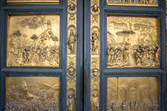Gates to the Baptistery of Saint John in Piazza del Duomo. One of Florence`s oldest buildings and predates Santa Maria del Fiore cathedral. Gates of Paradise, by Stock Photo