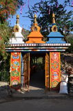 Gates to Buddhist temple in Rewalsar Royalty Free Stock Photography
