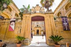 Gates to the city of Mdina. Mdina, Malta - 26 May, 2015: gates to the city of Mdina in Malta Royalty Free Stock Photography