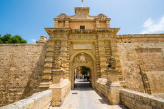 Gates to the city of Mdina Stock Photos