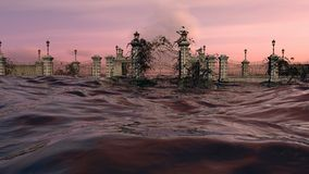 Gates To Heaven - Ocean Sunset Sky Royalty Free Stock Photo