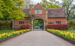 Gates to the Hever Castle in Kent royalty free stock image