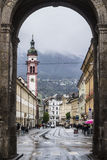 Gates to Innsbruck. Gates to little city Innsbruck, Austria Royalty Free Stock Images