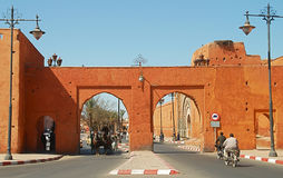 Gates to Marrakesh old and new town Royalty Free Stock Image