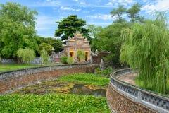 Gates to the Palace of Longevity, Hue. Vietnam royalty free stock photos